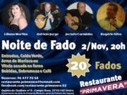 MÚSICA: Noite de Fado - Restaurante Primavera
