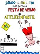 CRIANÇAS: Atelier Infantil Amoreiras Plaza | Festa de Verão | dia 21 de junho | Entrada Livre