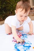 CRIANÇAS: Digitinta para Bebés e Crianças Com Tintas Caseiras e Comestíveis (+7 meses) ao Ar Livre