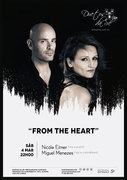 """MÚSICA: Nicole Eitner & Miguel Menezes  - Nicole Eitner (voz e piano) & Miguel Menezes (voz e contrabaixo)   """"From the Heart"""""""
