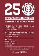 FESTAS: Friday 16th June - Element 25 Years party - Free