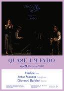"""MÚSICA: """"Quase um Fado"""" – Nadine, Artur Mendes & Giovanni Barbieri"""