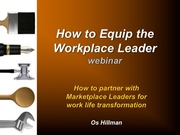 How to Equip Workplace Leaders webinar