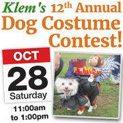 Klem's 12th Annual Dog Costume Contest