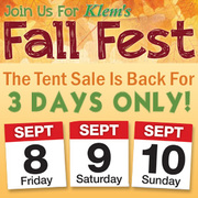 Klem's Fall Fest + Tent Sale