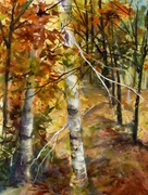 Awaiting Fall Foliage: Watercolor with Anna