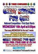The Great British Pub Quiz @ Three Compasses