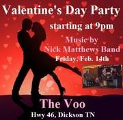 Nick Matthews Band at The Voo