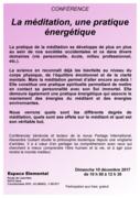 Conférence : La méditation, une pratique énergétique