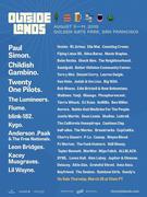 Outside Lands 2019 feat. Childish Gambino,Paul Simon, Anderson Paak, Leon Bridges, RL Grime, Ella Mai, Flying Lotus...