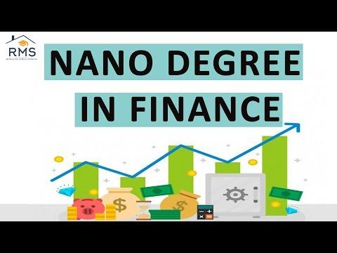 Nano Degree In Finance | Summer Internship 2019