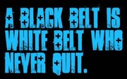 Black Belt, White Belt, Nvr Quit