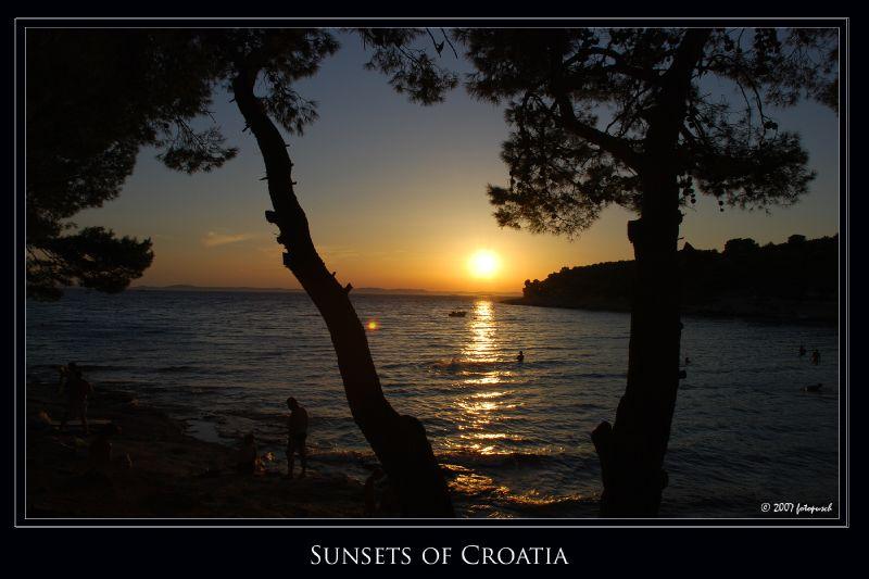 Sunset of Croatia