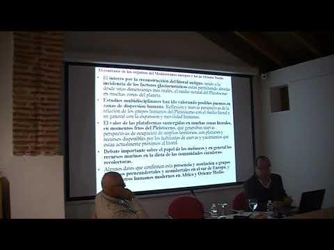 Ramos Muñoz, catedrático de Prehistoria, conferencia Pleistoceno. Marbella I