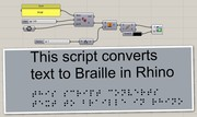 Text to Braille in Rhino