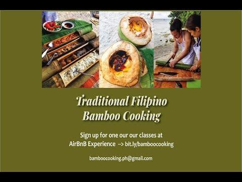Traditional Filipino Bamboo Cooking in Moalboal Cebu