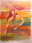 WOMAN in sea, fields, everywhere, anywhere