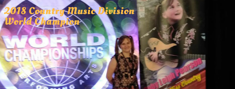 Ruby Winner 2018 Country Music Division World Champion
