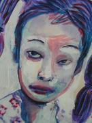 Sad girl close up