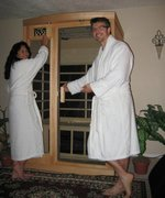 Shelley and I have a Far Infrared Sauna Business