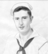 dad in navy  sketch by Marique