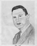 my dad in 1956  sketch by Mariue