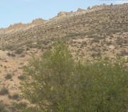 forteresse en ruine au sommet de la montagne