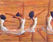 4 women dancing
