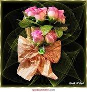 FlowersRosebudBouqetPink