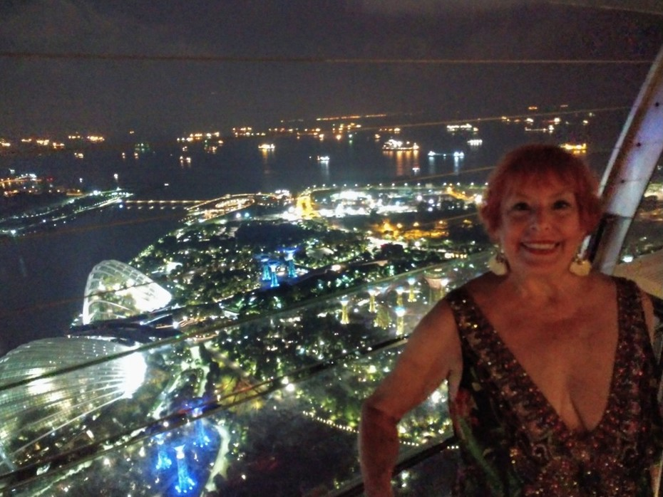 Atop the Marina Sands Resort in Singapore