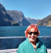 Milford Sound glacier bay in New Zealand