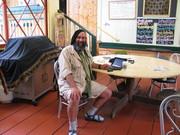 Me at Internet Cafe Big Island