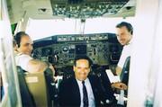 Dans le Cockpit de l'avion Transat