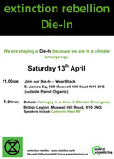 Die-in in Muswell Hill - 13 April