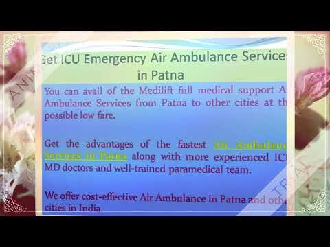 Very Low Charges Air Ambulance Services in Delhi by Medilift