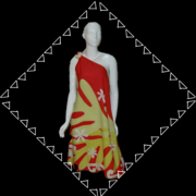 Staghorn dress with One Shoulder Tie
