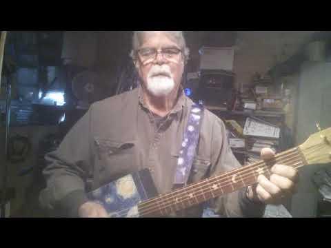 Starry Night 6 String Cigar Box Guitar