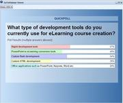 The results of the Poll on Tools used for course creationn