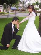 Dia feliz o dia que me casei para o tempo e eternidade !