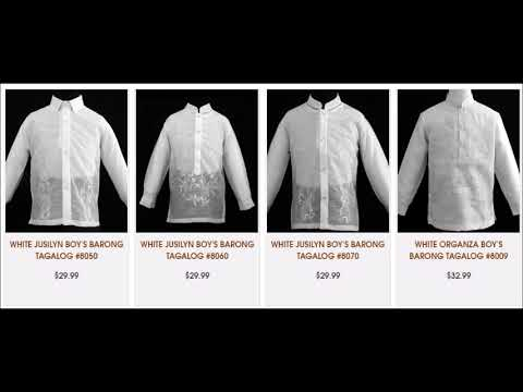 White Barong Tagalog for Boys from Barongs R Us