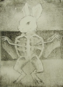 Exquisite corpse. Etching.