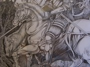 My rendition of the The Knight, Death and the Devil by Albrecht Drurer