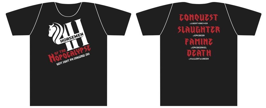 The Four Horsemen of the Hopocalypse - The T-shirt