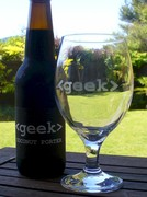 Geek Coconut Porter & Geek Beer Glass