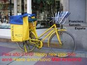Reparto de correo en bicicleta.