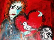 In your heart starts to peace   Acryl auf Tuch  88 x 88 cm 2010 Despina Papadopoulou 2010