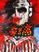 The Watcher  Acryl auf Karton 40 x 30 cm Jahr 2010 Despina Papadopoulou