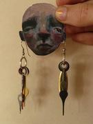 mail art earrings