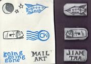 eraser carving - mailart