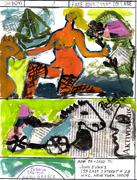 mail art work Fake John Evans Collage by OH BOY